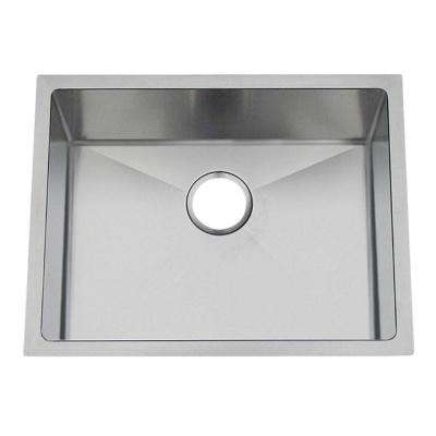 Professional Undermount Stainless Steel 23 in. 0-Hole Single Bowl Kitchen Sink