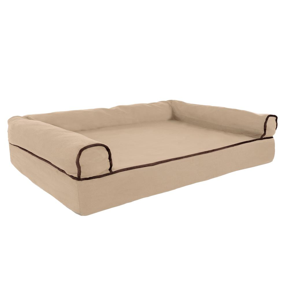 Petmaker Medium Tan Memory Foam Orthopedic Pet Bed M320156
