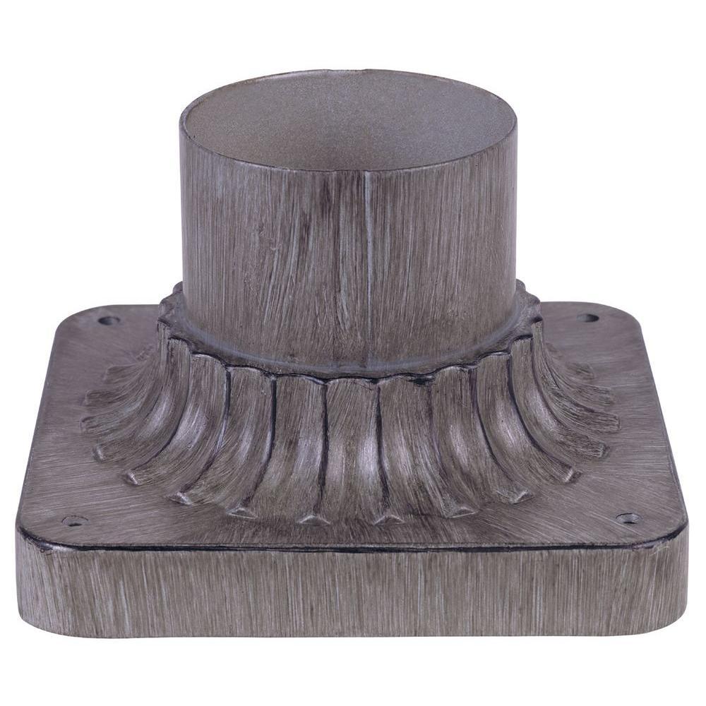 Oxide Silver Cast Aluminum Pier Base