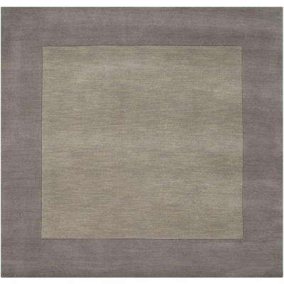 Foxcroft Gray 9 ft. 9 in. x 9 ft. 9 in. Indoor Square Area Rug