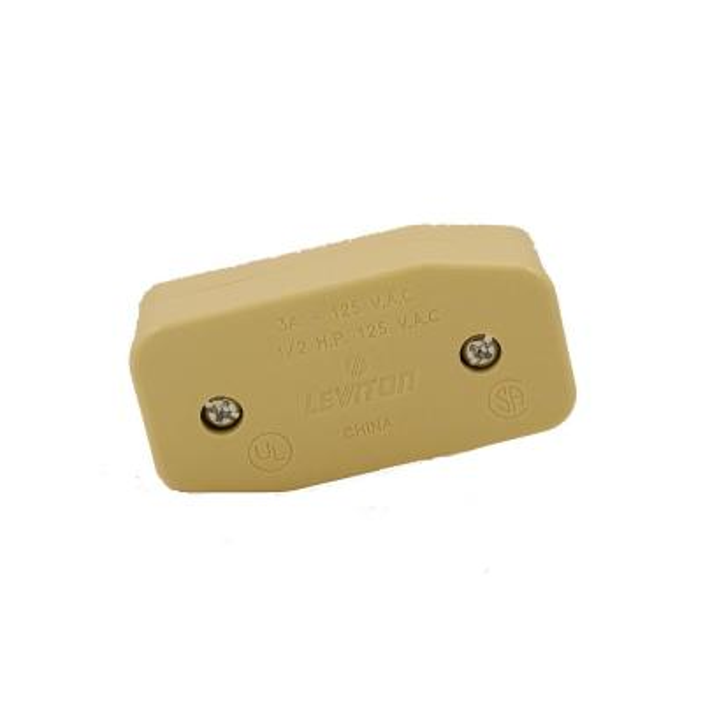 3 Amp Single Pole Feed Thru Appliance Switch, Ivory