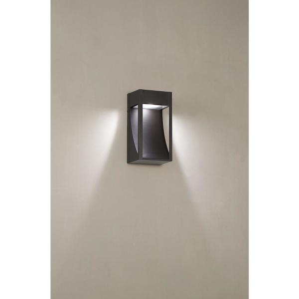 Monticello 1-Light Oil Rubbed Bronze Outdoor Integrated LED Wall Mount Lantern