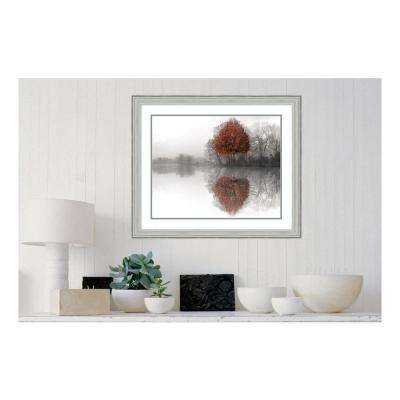 31.88 in. W x 26.88 in. H Mirror Lake by Ellen Fish Printed Framed Wall Art