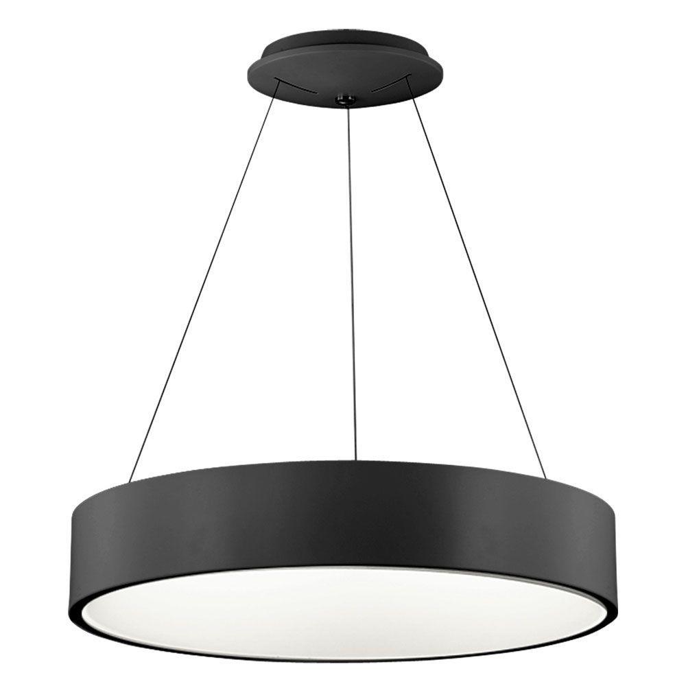 Nevaeh 1-Light 24 in. Black Pendant