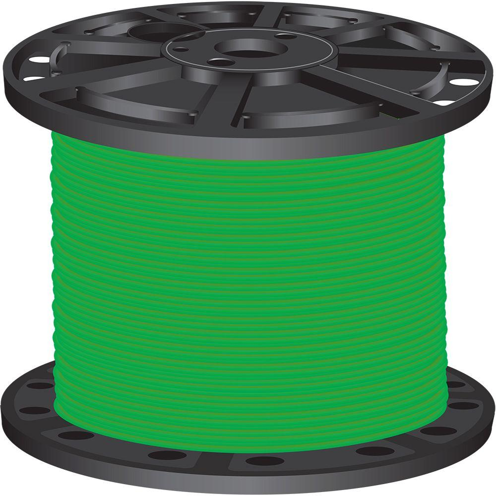 1,000 ft. 4 Green Stranded CU SIMpull THHN Wire