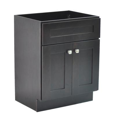 Brookings Plywood RTA 24 in. W x 18 in. D 2-Door Shaker Style Bath Vanity Cabinet Only in Espresso