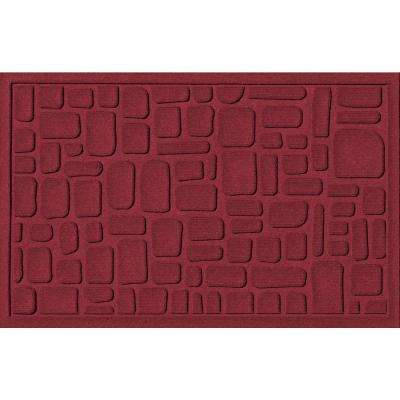 Stone Path Red Black 24 in. x 36 in. Polypropylene Door Mat
