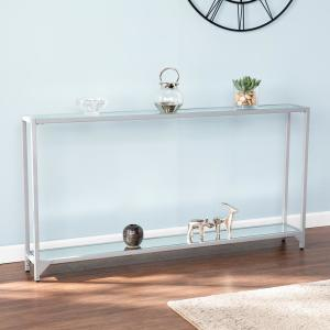 Cool Southern Enterprises Greene Silver Narrow Metal Console Lamtechconsult Wood Chair Design Ideas Lamtechconsultcom