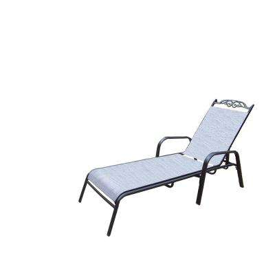 Cascade Aluminum Framed Foldable Outdoor Sling Chaise Lounge