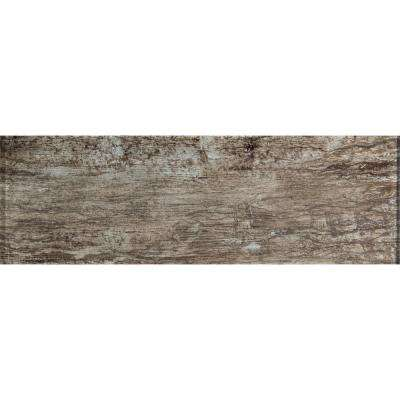 Antico Pewter 4 in. x 12 in. Glass Wall Tile (2 sq. ft. / case)