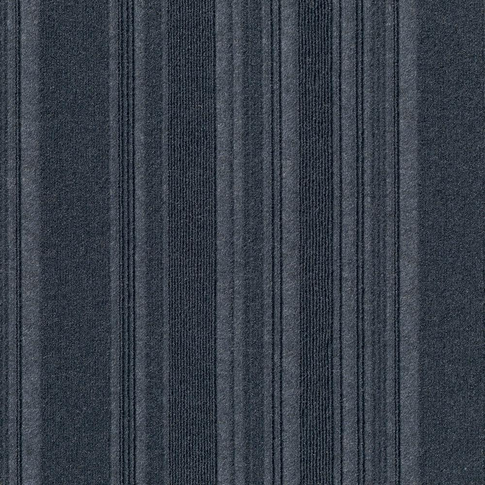 Foss Peel and Stick First Impressions Barcode Rib Ocean Blue 24 in. x 24 in. Commercial Carpet Tile(15 Tiles/60 sq. ft./Case)