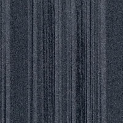 Peel and Stick First Impressions Barcode Rib O. Blue 24 in. x 24 in. Commercial Carpet Tile (15 Tiles/Case)