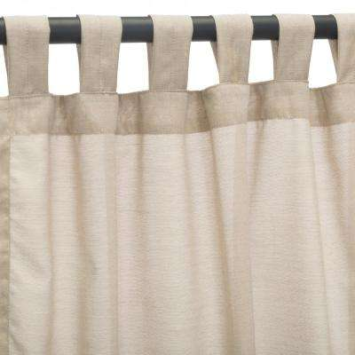 50 in. x 84 in. Outdoor Single Curtain with Nickel Grommets in Wheat