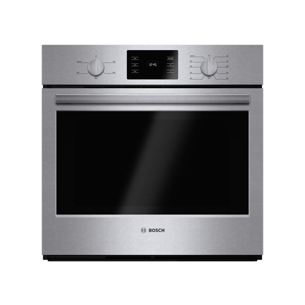 Bosch 500 Series 30 In Single Electric Wall Oven Self Cleaning Stainless Steel