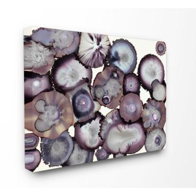 """24 in. x 30 in. """"Grey and Purple Abstract Geode"""" by Third and Wall Printed Canvas Wall Art"""