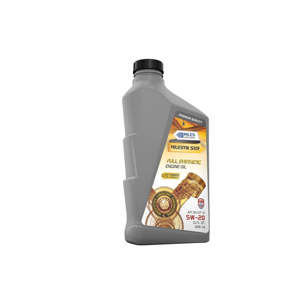 Milesyn SXR 5W20, API 1 Qt. Full Synthetic Motor Oil Bottle (Pack of 12)