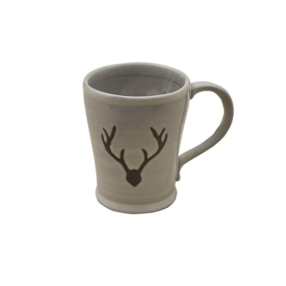 Logan Antler 12 oz. Taupe Ceramic Coffee (Set of 4)