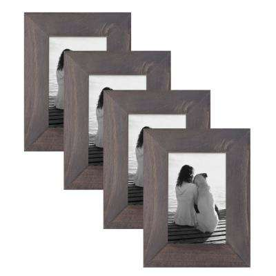 Museum 4 in. x 6 in. Gray Picture Frame (Set of 4)