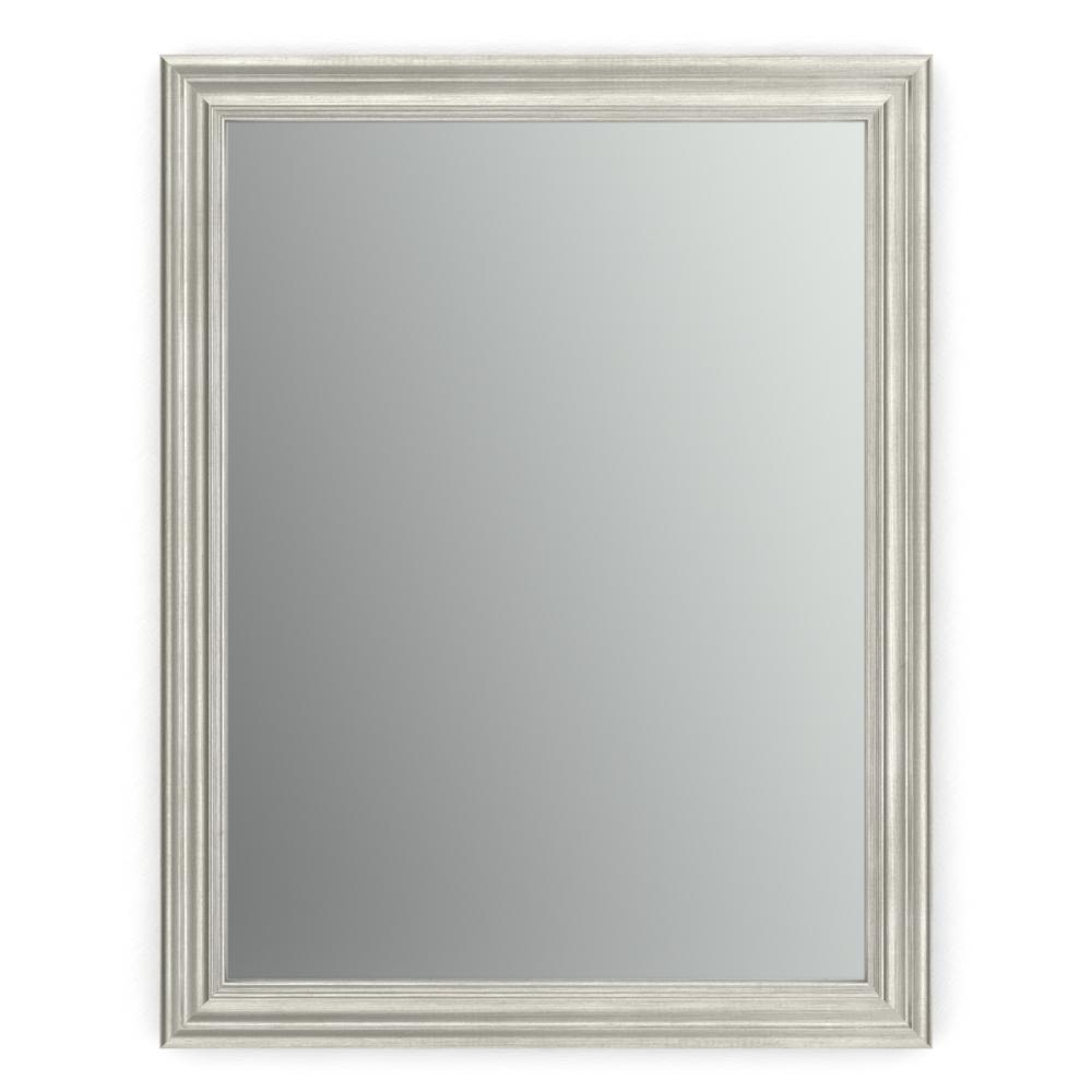 28 in. W x 36 in. H (M1) Framed Rectangular Standard Glass Bathroom Vanity Mirror in Vintage Nickel