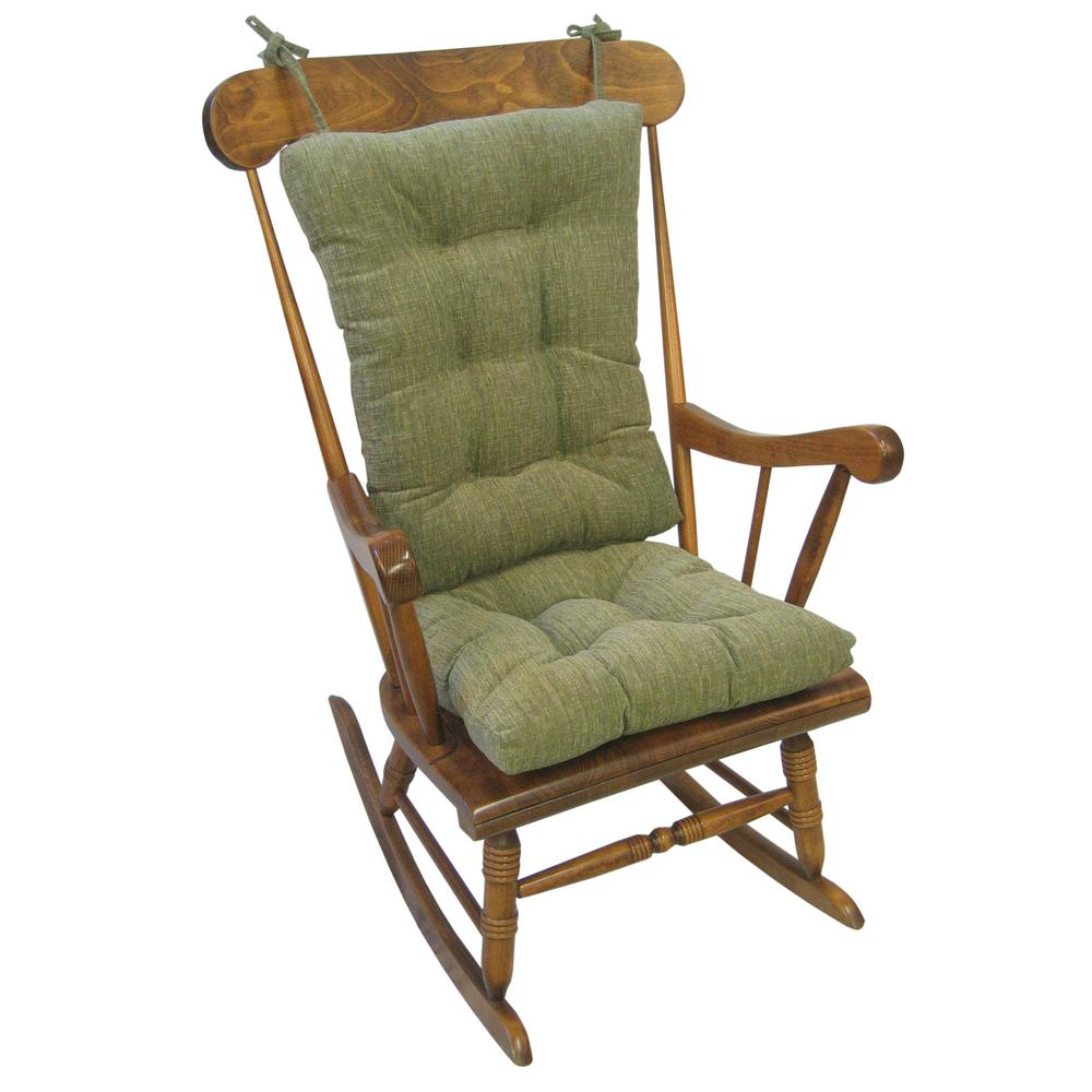 Gripper Polar Chenille Jade Jumbo Rocking Chair Cushion Set