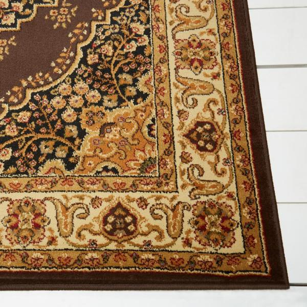 Home Dynamix Royalty Brown Ivory 8 Ft