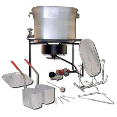 Outdoor Chef's Hot Tub 33,000 BTU Propane Gas Outdoor Cooker with 26 qt. Aluminum Pot