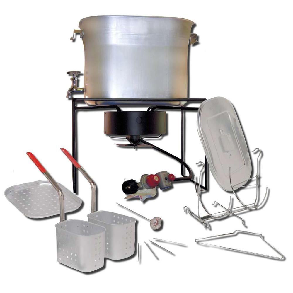 Outdoor Chef's Hot Tub 33,000 BTU Propane Gas Outdoor Cooker with 26 qt. Aluminum Pot