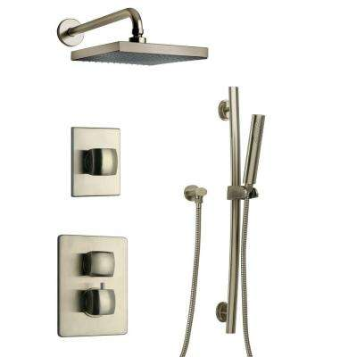 Lady Brushed Nickel Shower Combo 3