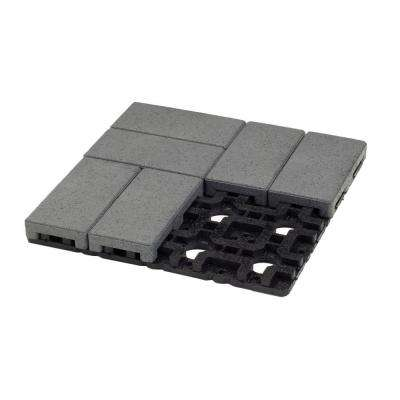 4 in. x 8 in. Waterwheel Composite Resurfacing Paver Grid System (8 Pavers and 1 Grid)