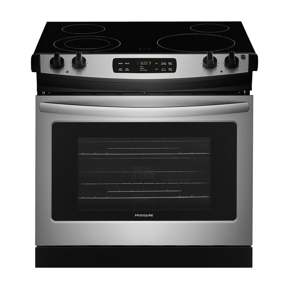 Frigidaire 30 In 4 6 Cu Ft Drop In Electric Range With