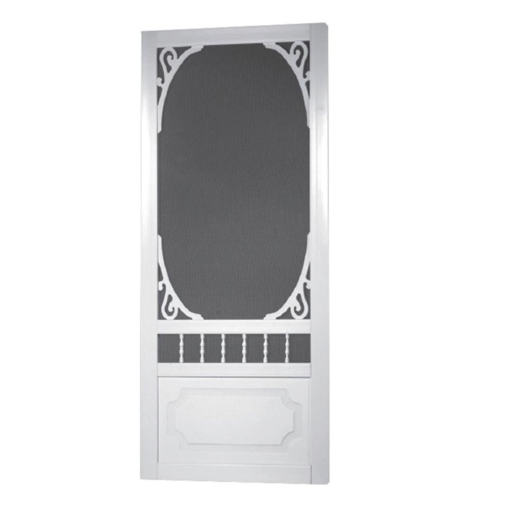 White Screen Door : Screen tight in belle harbour white
