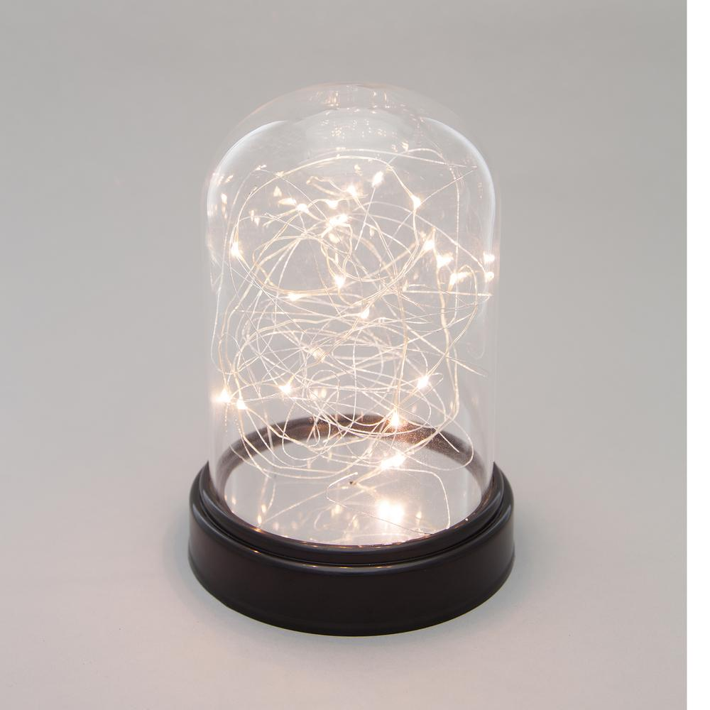 Everlasting Glow 55 in x 8 in Clear Glass Cloche with Micro LED