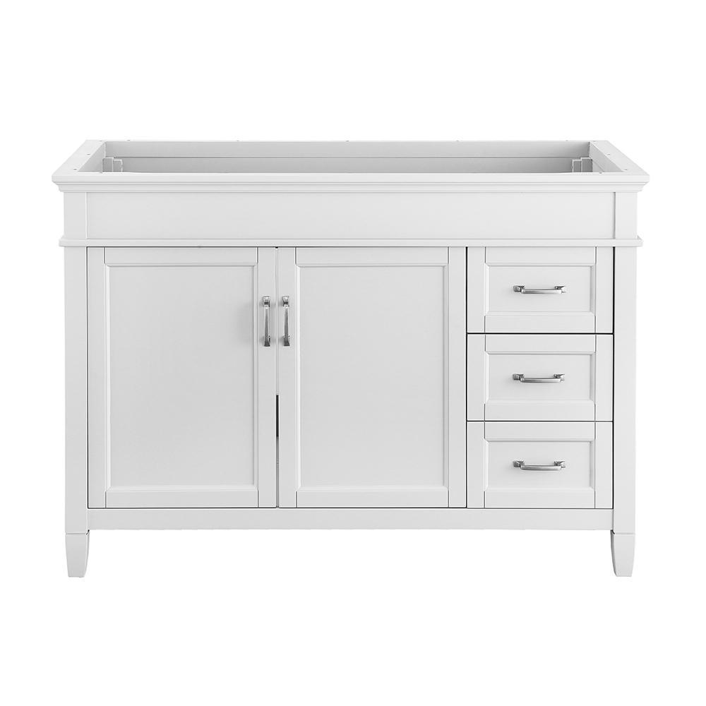 Ashburn 48 in. W x 21.75 in. D Vanity Cabinet in White