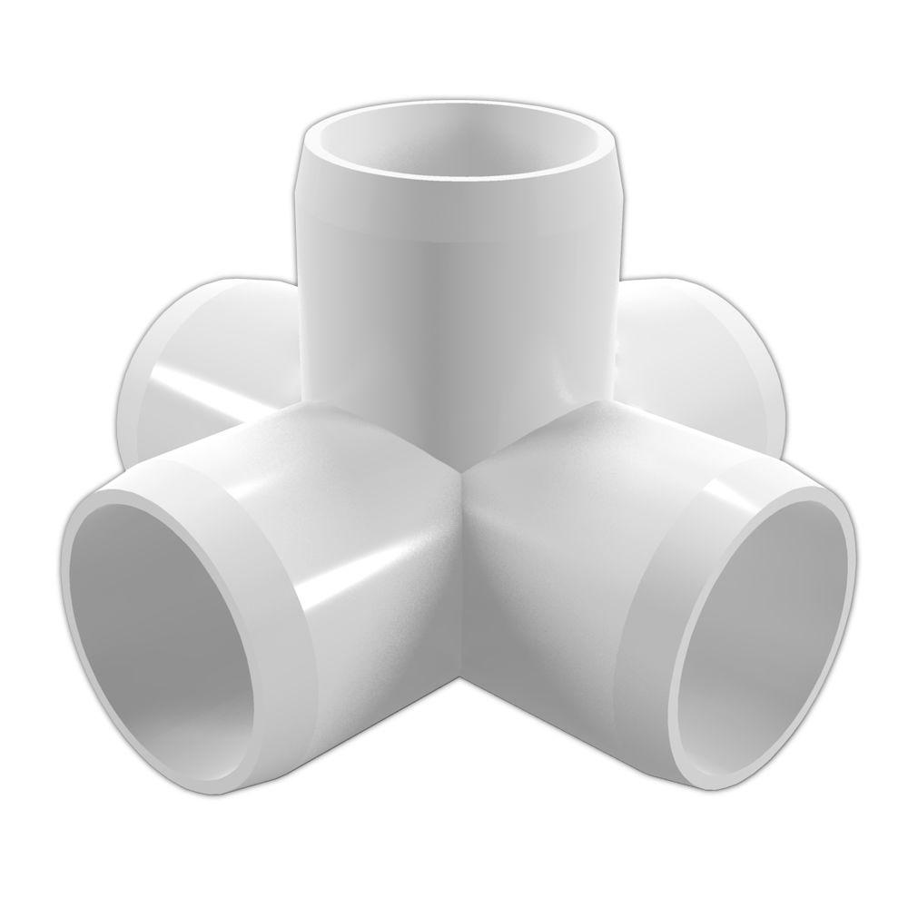 Formufit 1 In Furniture Grade PVC 5 Way Cross White 4