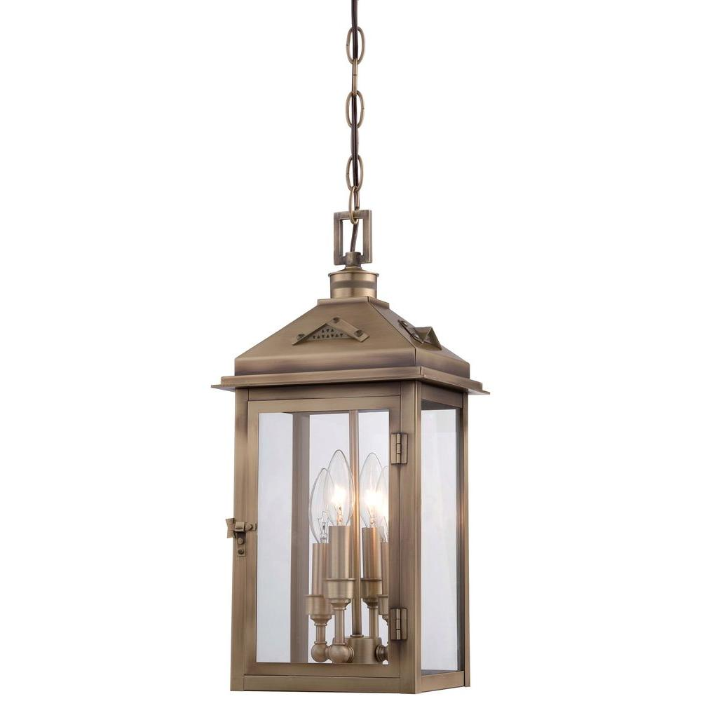 The Great Outdoors By Minka Lavery Eastbury 4 Light Colonial Br Outdoor Chain Hung