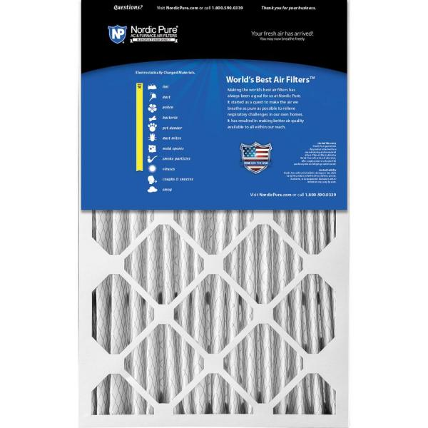 Nordic Pure 16x25x1 MPR 1085D Micro Allergen Extra Dust Reduction Replacement AC Furnace Air Filters 6 Pack