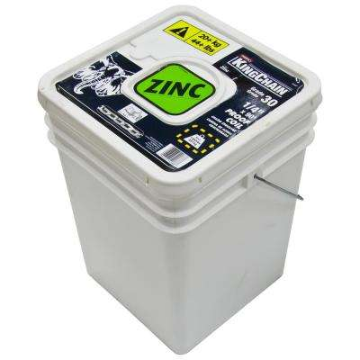 1/4 in. x 90 ft. Zinc-Plated Grade 30 (G30) Proof Coil Chain - 1,300 lbs Safe Work Load - Plastic Bucket