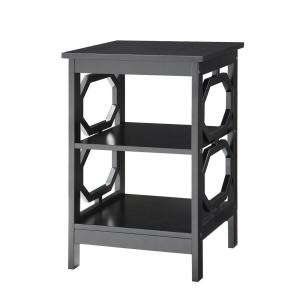 Convenience Concepts Omega Black End Table by Convenience Concepts