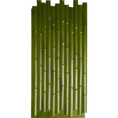 5/8 in. x 24-3/8 in. x 53-7/8 in. Green Urethane Bamboo Slat Wall Panel