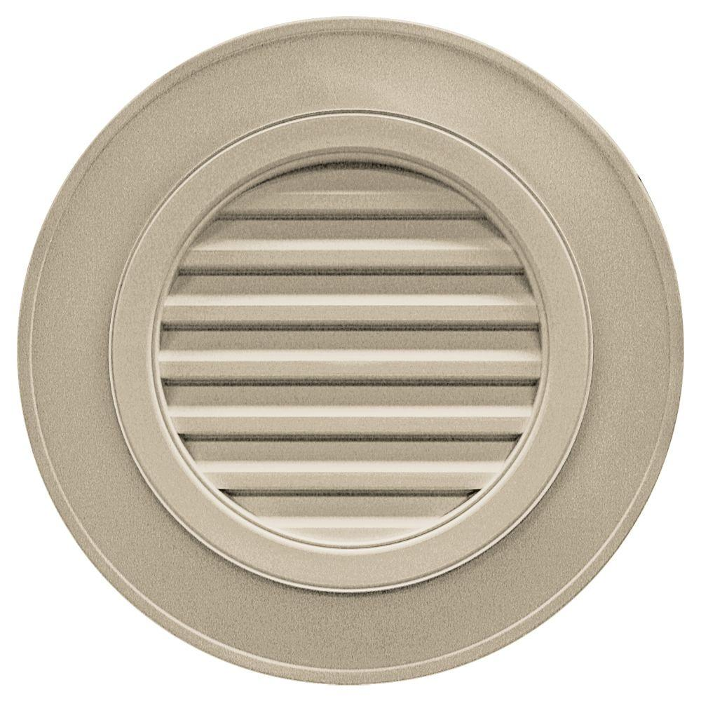 Builders Edge 28 in. Round Gable Vent in Clay (without Keystones)