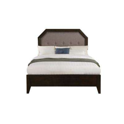 Selma Gray Fabric and Tobacco Eastern King Bed