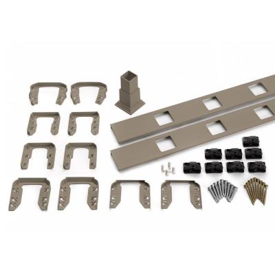 Transcend 67.5 in. Composite Gravel Path Square Baluster Stair Accessory Kit