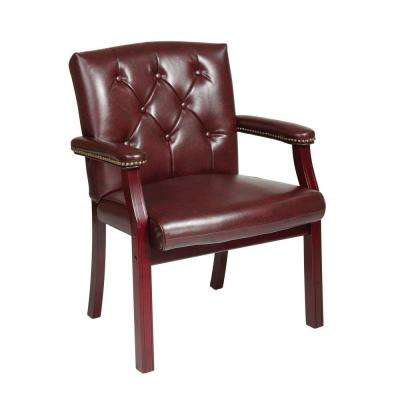 Oxblood Vinyl Visitor Office Chair