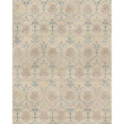 Washable Leyla Creme Vintage 8 ft. x 10 ft. Area Rug