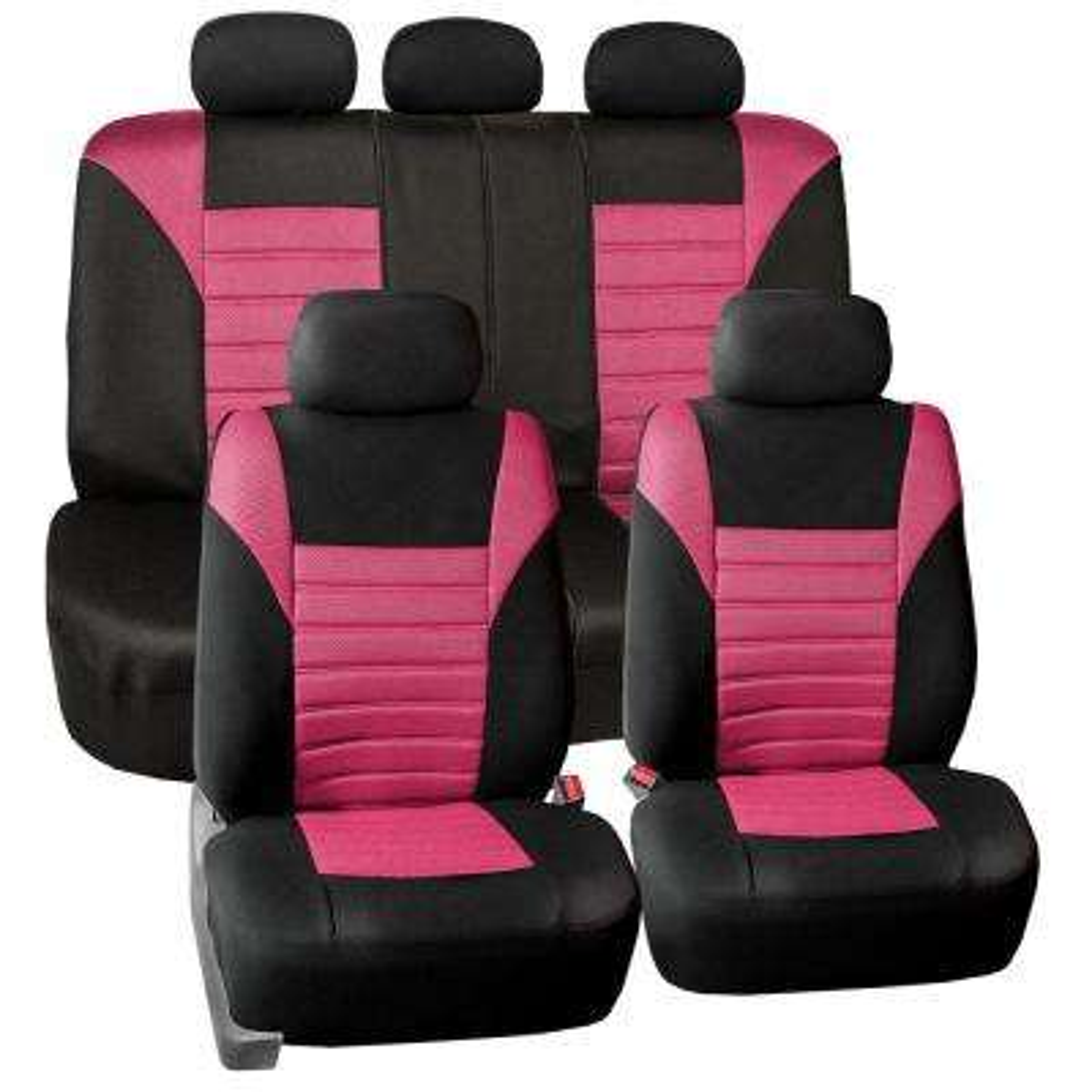 Premium 3D Air Mesh 47 in. x 23 in. x 1 in. Air Bag Compatible Full Set Seat Covers