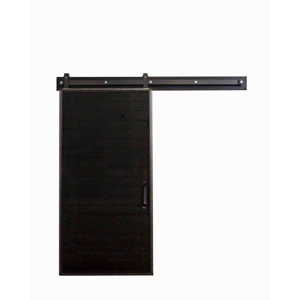 Rustica Hardware 42 In X 84 In Chalkboard Barn Door With Garrick