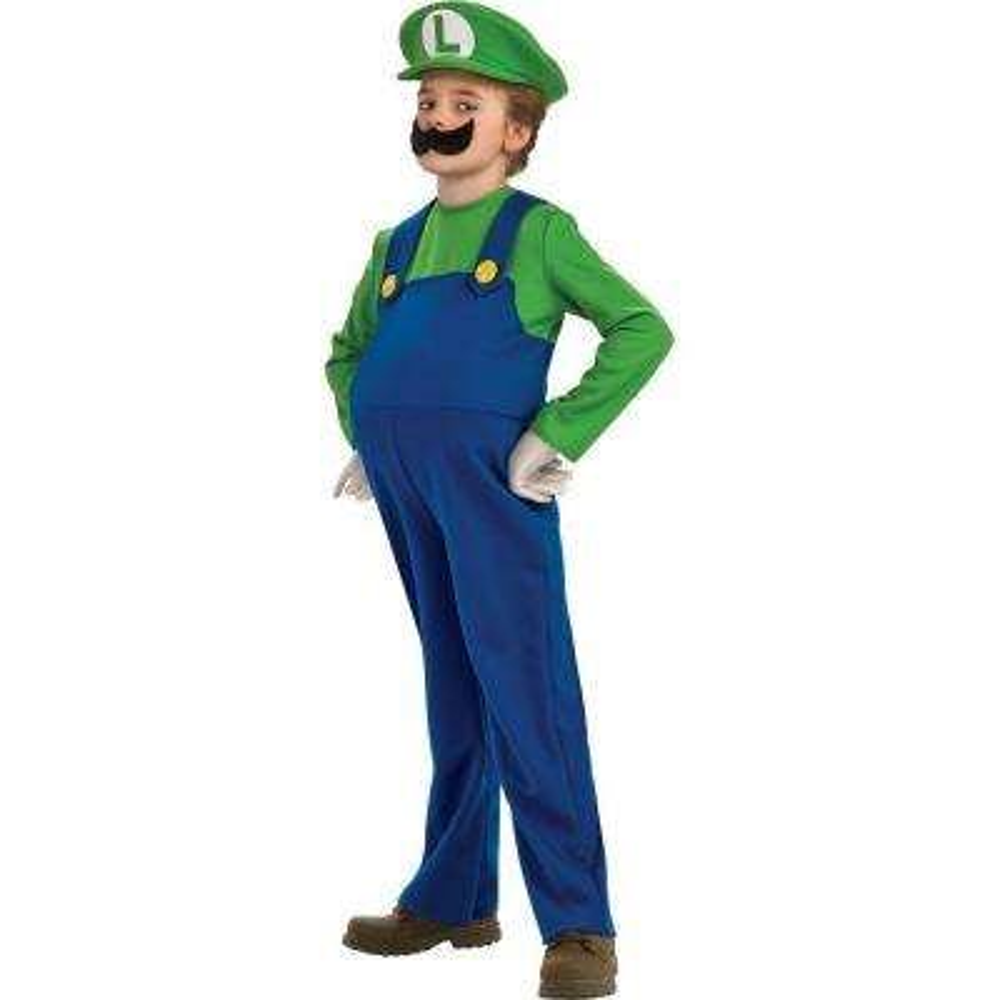 Child Deluxe Super Mario Luigi Costume