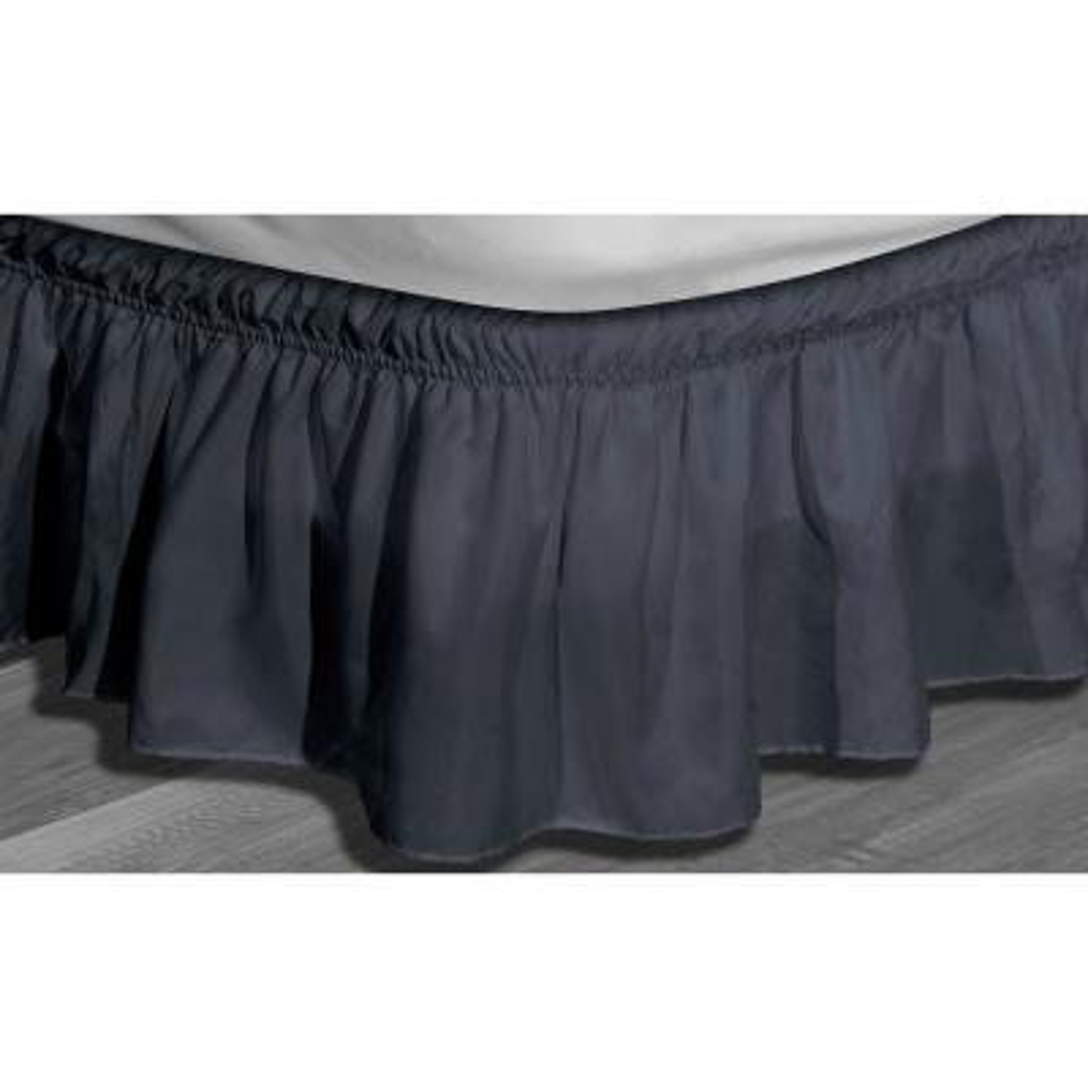 Waldorf Blue Twin/Full Microfiber Bed Ruffle Skirt