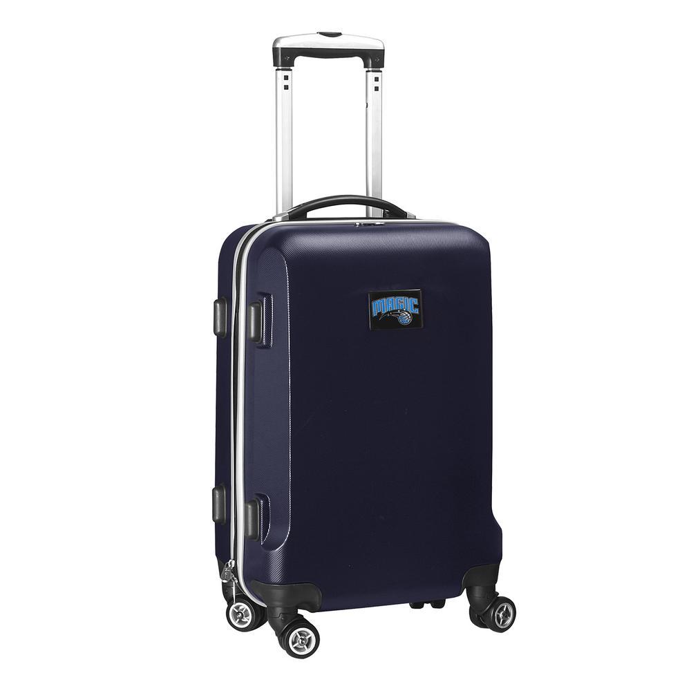 Denco NBA Orlando Magic 21 in. Navy Carry-On Hardcase Spinner Suitcase, Blue