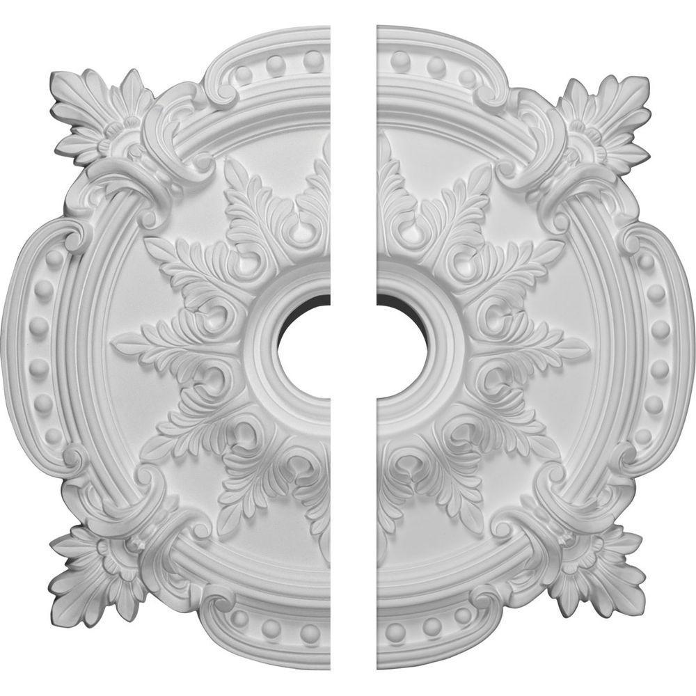 28-3/8 in. O.D. x 4-1/2 in. I.D. x 1-5/8 in. P Benson Classic Ceiling Medallion (2-Piece)